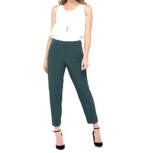 TEAL SLIM CUFFED ANKLE PANT